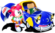 Amy with car.png