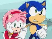 Sonic beschützt Amy