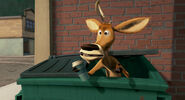 Elliot finds coffee in the dumpster