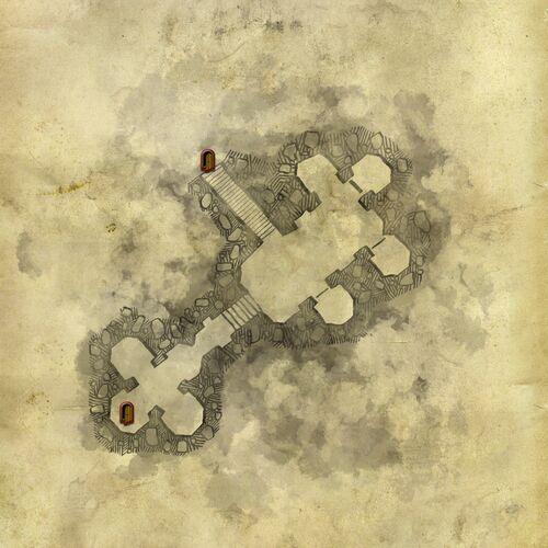 Carte des chambres sousterraines