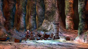 Geralt activant le portail