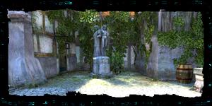 Statue de Melitele près de la Porte de Maribor