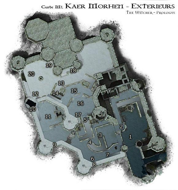 Map M1 - Extérieurs de Kaer Morhen