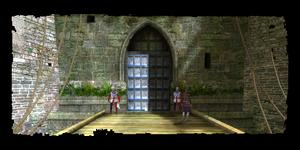 Portes de la Nouvelle Wyzima, vue de la digue