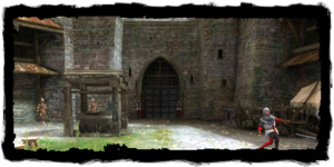 Portes menant du Quartier du Temple au Quartier des marchands
