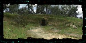 entrée de la crypte