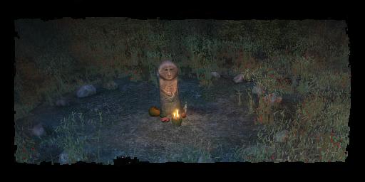 the Druids' Circle at night