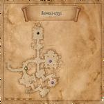 Cercles dans la crypte de Corbeau