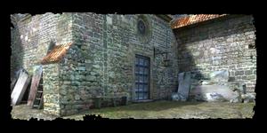 entrée de la crypte du cimetière