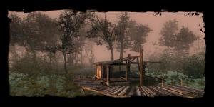 Embarcadère dans les marais