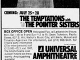 July 15-21, 1974 Universal Amphitheatre, Los Angeles, CA