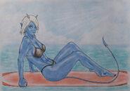 Lexa Fanart By Demon Sanya 4