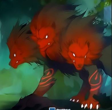 Three-Headed Scarlet Devil Mastiff