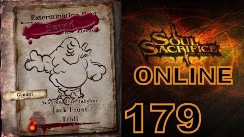 Let's Play Soul Sacrifice PS VITA - Part 179 - ONLINE - Hour Of Ash - Jack Frost Troll