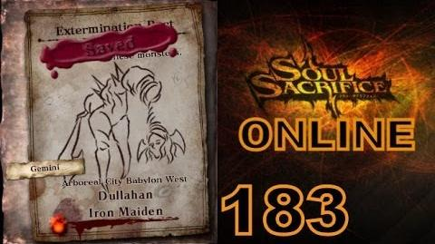 Let's Play Soul Sacrifice PS VITA - Part 183 - ONLINE - Hour Of Silver - Dullahan Iron Maiden