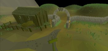 """Entrance to the minigame called """"Barrows"""""""