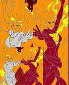 Jean Grey's Shoulder Angel and Devil mom