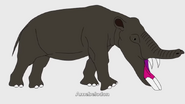 100 Prehistoric Beasts Hollywoodedge, Elephant Single Shor AT043401