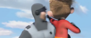 The Incredibles (2004) H-B YELL, CARTOON - MALE YELLING ''OUCH!'', HUMAN (1st yell)