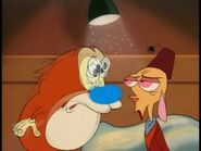 Son of Stimpy Sound Ideas, BUBBLE, CARTOON - SKIP'S FLARTLES 02, Hollywoodedge, Growl Comedic Squeeg PE941609, or Hollywoodedge, Muddy Cartoon Boinks PE940901 (high-pitched)
