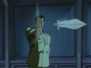Crying Freeman Anime Knife Throw and Hit Sound