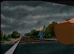 Chasing bobby Train Comming.png