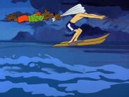 Scooby and Shaggy Soaring With Water Skiis
