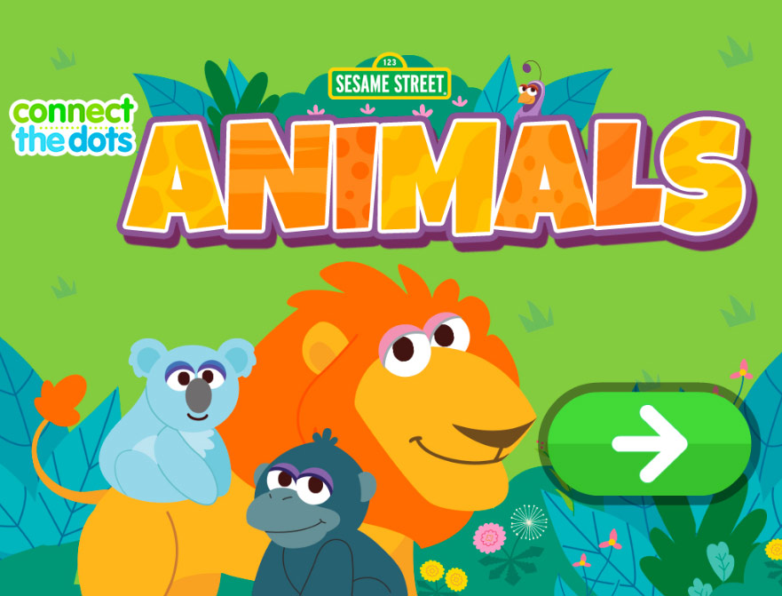 Sesame Street: Connect the Dots: Animals (Online Games)