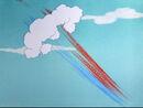 Stupor Duck Sound Ideas, CARTOON, AIRPLANE - LARGE SUPERSONIC PLANE LAND AND ENGINE WIND DOWN