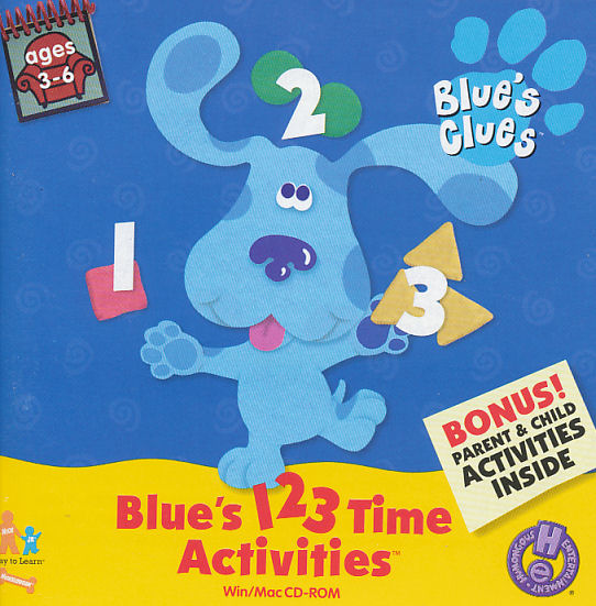 Blue's 123 Time Activities (1999) (PC Game)