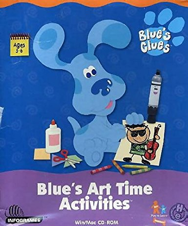 Blue's Art Time Activities (2005) (PC Game)
