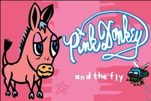 Pink Donkey and the Fly