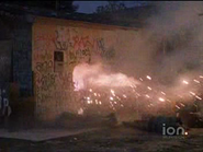Colors (1988) Sound Ideas, Explosion Single Large 05 - Single large explosion with fiery ending