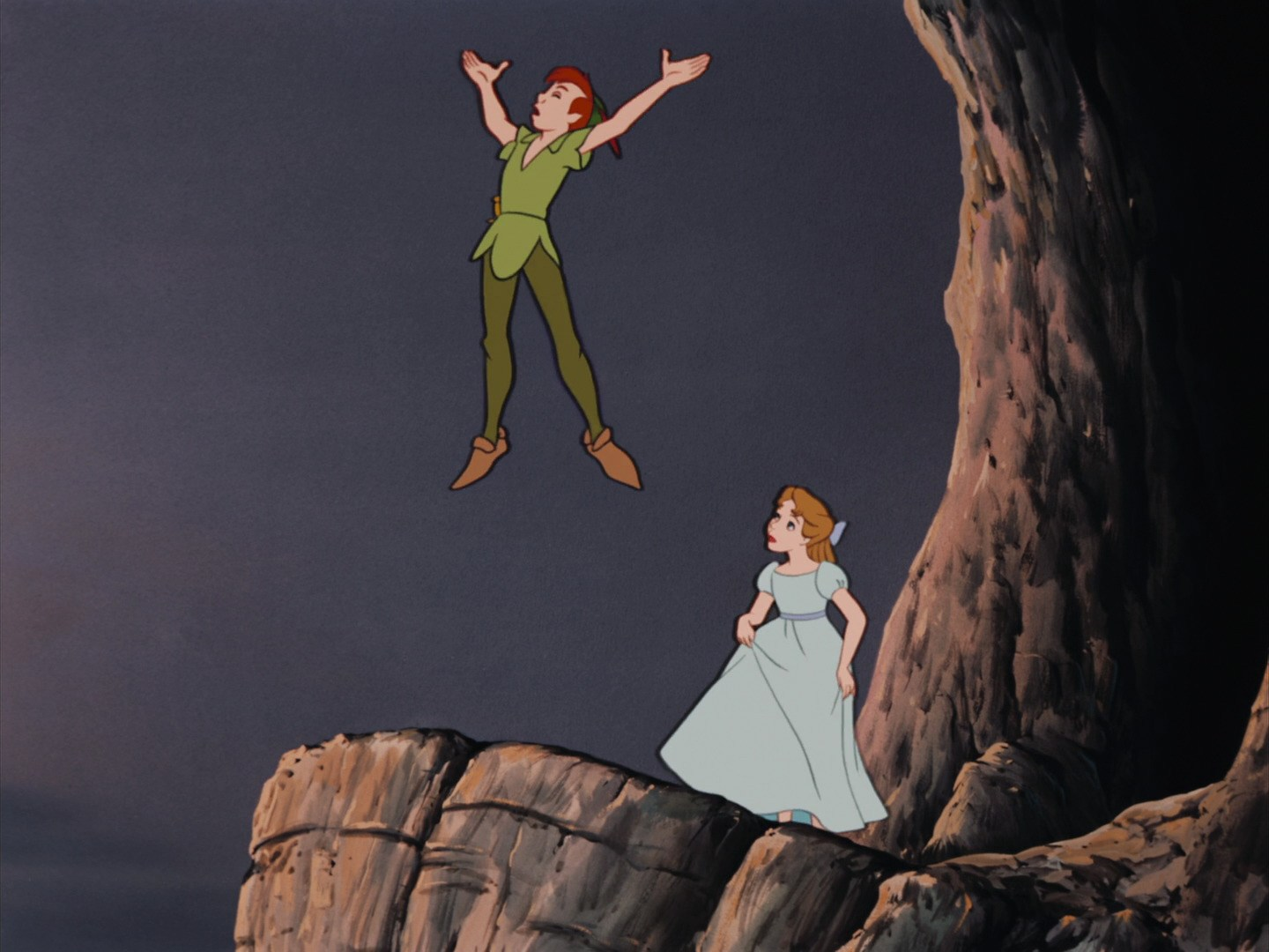 Peter Pan Imitates Rooster's Crow