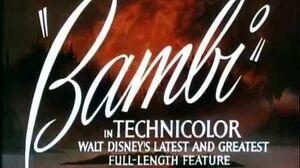Bambi - 1941 Original Theatrical Trailer