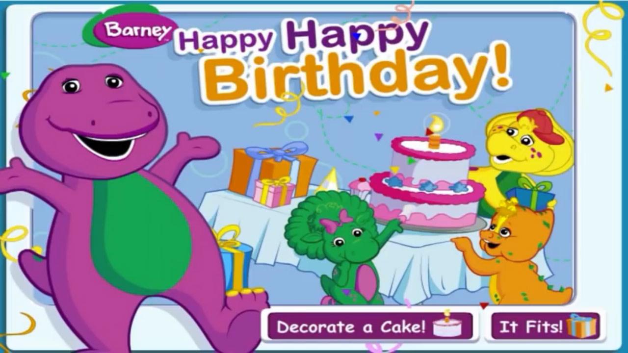 Barney: Happy Happy Birthday! (Online Games)