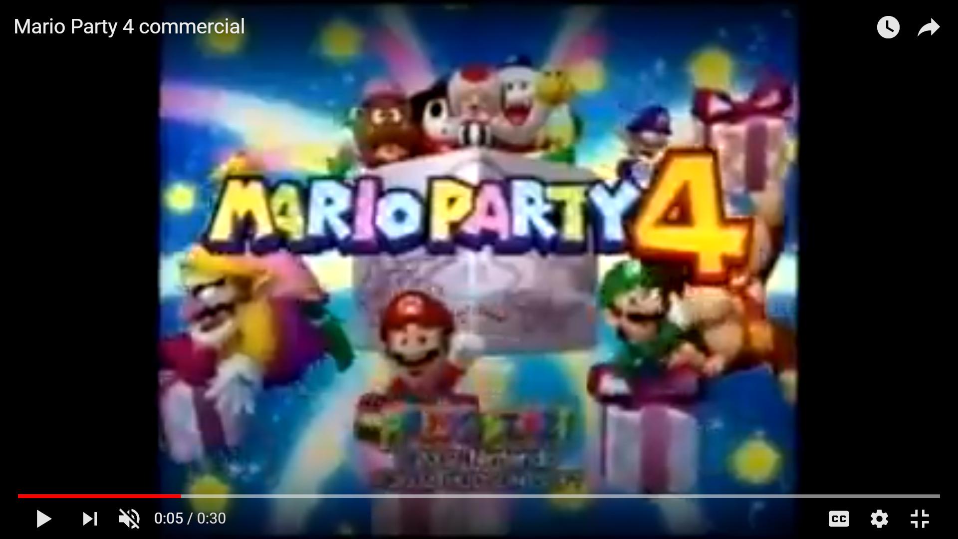 Mario Party 4 Commercial (2002)
