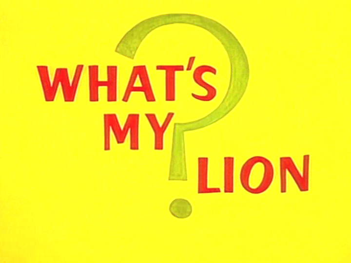 What's My Lion?