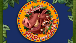 Timon and pumbaa's wild about safety logo.png