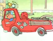 Richard Scarry's Best ABC Video Ever! Sound Ideas, FIRE ENGINE - GOING TO FIRE SCENE SIREN AND HORN, COMES TO A STOP