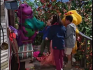 Barney's Halloween Party Sound Ideas, ZIP, CARTOON - QUICK WHISTLE ZIP OUT