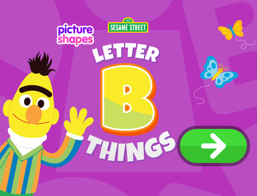 Sesame Street: Picture Shapes: Letter B Things (Online Games)