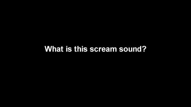 Cart1146/What is this scream sound?