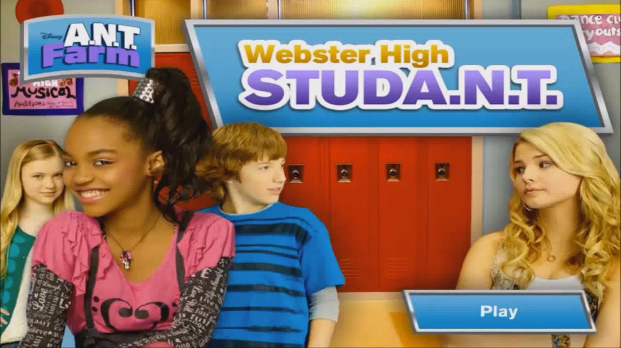A.N.T. Farm: Webster High StudA.N.T. (Online Games)