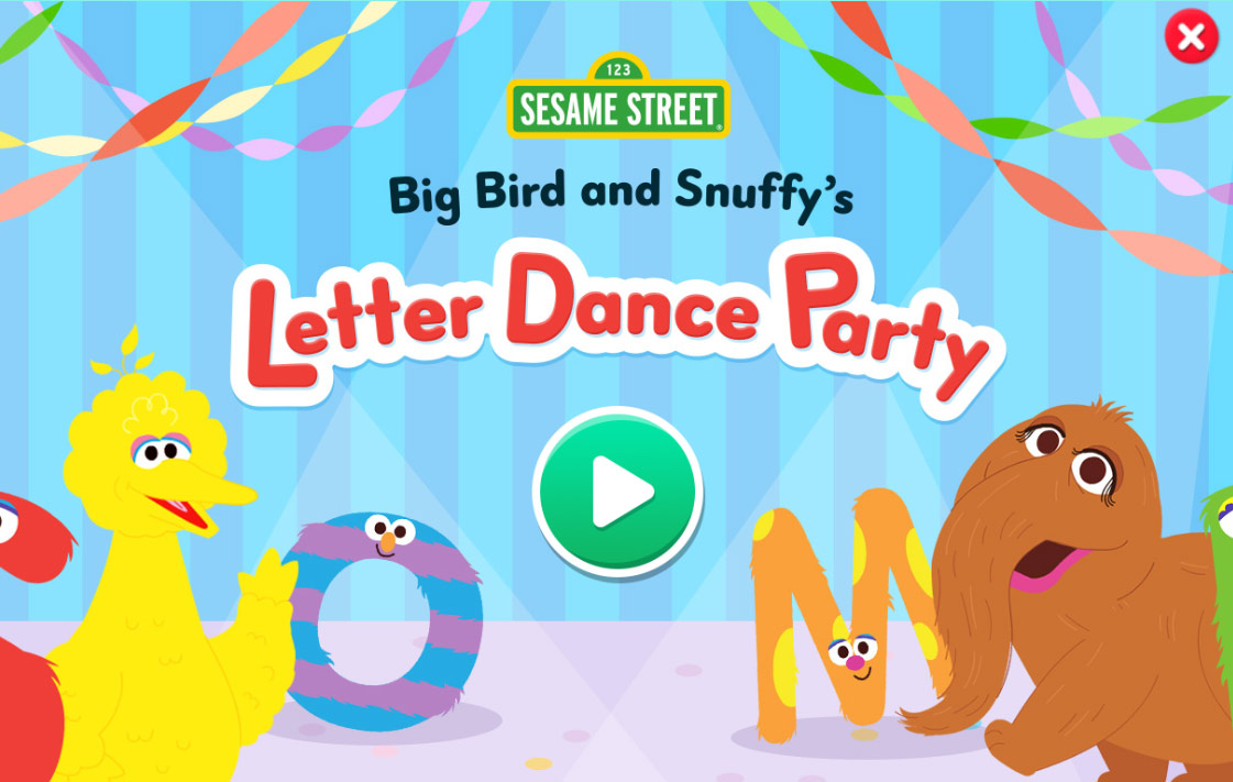 Sesame Street - Big Bird and Snuffy's Letter Dance Party (Online Game)