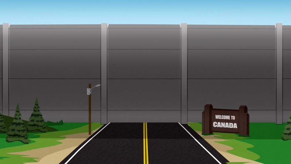 加拿大边境墙