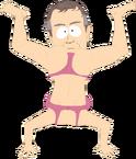 Alter-egos-mr-white-upside-down-woman-body