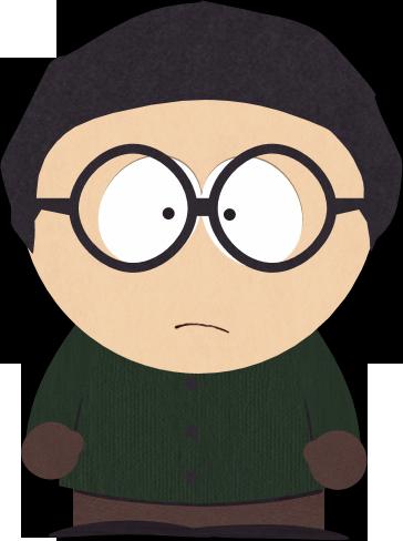 深绿衣眼镜男孩
