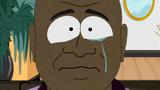 Johnson tears up