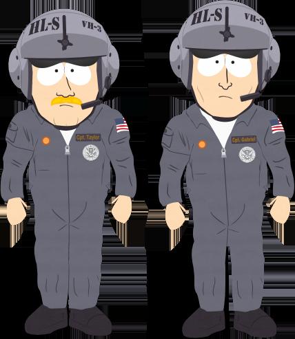 Captain Taylor and Captain Gabriel